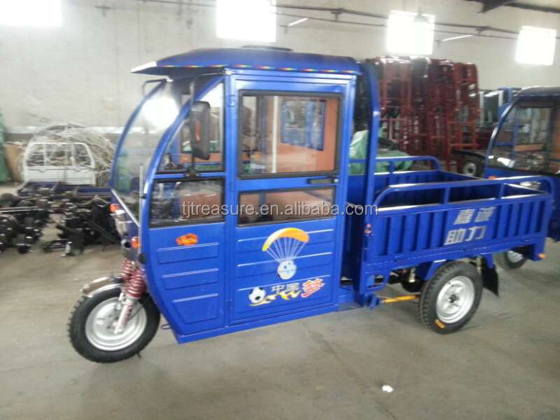Marketplace/ cargo tricycle with cabin from china/sell wel