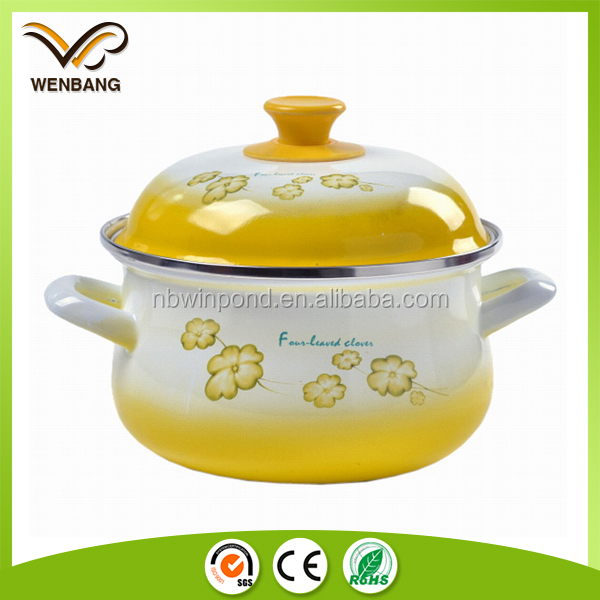 Baked enamel cookware casseroles enamel cookware with decoration