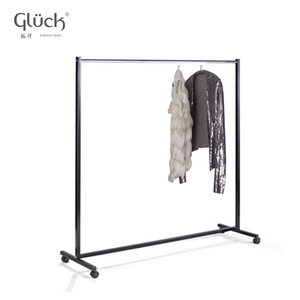 outdoor sample movable black hanging clothes rack 1209