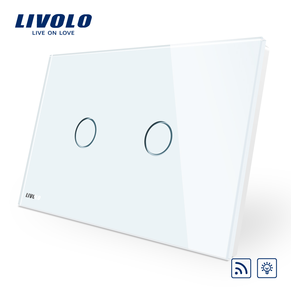 Livolo AU/US Standard Crystal Glass Panel Screen Dimmer Remote Home Wall Light Touch <strong>Switch</strong> VL-C902DR-11