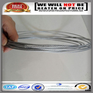 SGS certificate 7x7 galvanized steel wire rope 2.3mm