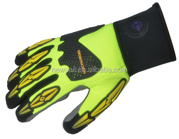 NEWSAIL fluorescence material oilfield working gloves/heavy duty mechanical working gloves
