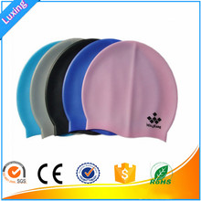 Funny novelty printing silicone swimming bathing cap