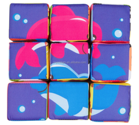 baby cube toy/Baby toys plush cube china wholesale/puzzle pillow