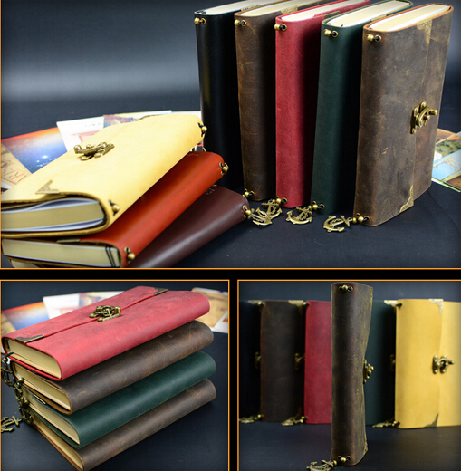 Handmade Band 1pc Classic genuine leather Paper Notebook leather Travel Journal