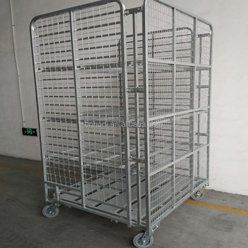 Warehouse Folding Security Wire Mesh Roll Cage Trolley - Buy Warehouse  Trolley,Roll Cage Trolley,Bed Trolley Product on Alibaba com