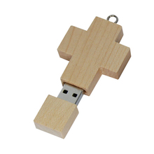 Wooden cross model USB 2.0 Memory Stick Flash pen Drive 4GB 8GB 16GB 32GB