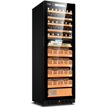 Jiaren Cigar Cabinet Led Light Humidor Wine Display Large Cedar Wood Cooler Fk