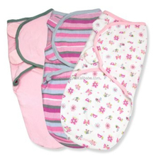 100% Cotton Baby Swaddle Newborn Muslin Blanket Adjustable Infant Wrap