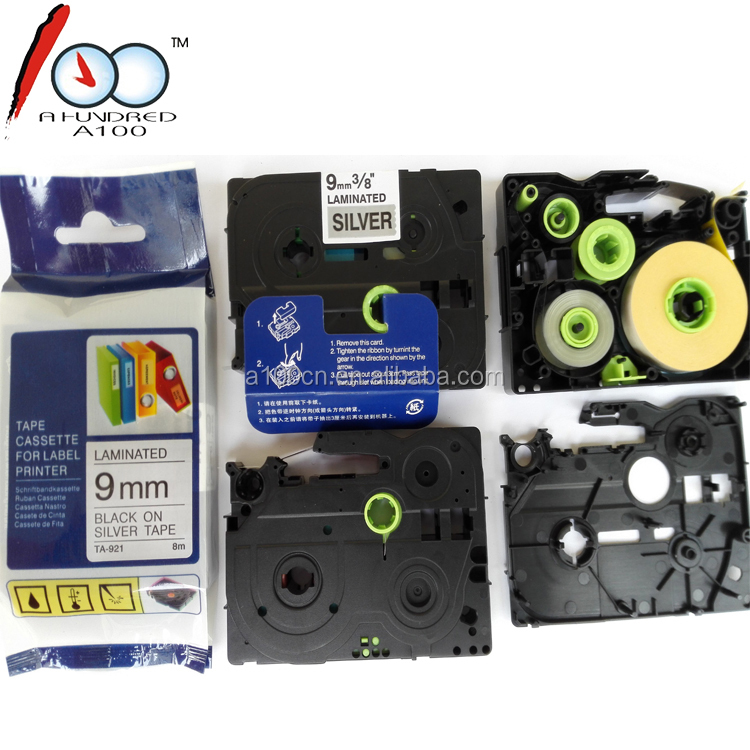 Compatible Label Tape laminated Brother p touch TZ label tape for TZ921