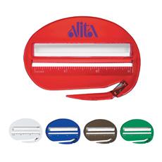 नए डिजाइन घरेलू 3 में 1 multifunctional अंडाकार आकार 3 inches शासक और ताल के साथ हार्ड प्लास्टिक पत्र सलामी बल्लेबाज