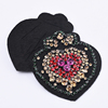 Yongze Bulk sequin applique wholesale letters clothes crystal beaded heart patches