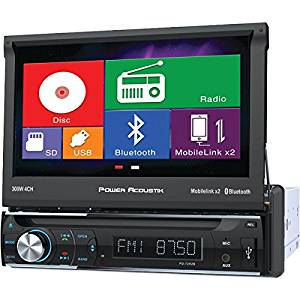 "POWER ACOUSTIK PD-72H2B 7"" Single-DIN In-Dash Motorized LCD Touchscreen DVD Receiver with Bluetooth(R) & MHL(R) MobileLink X2"