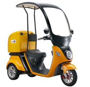 Hot-selling windscreen tumbler electric scooter enclosed tricycle 3 wheel delivery transport scooter cargo