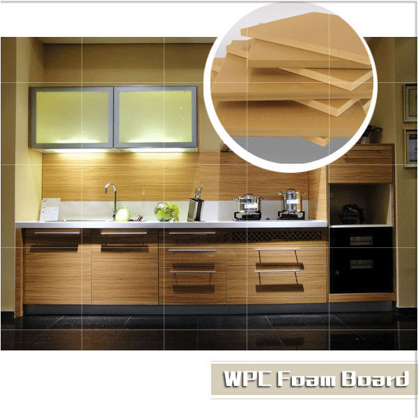 Wpc/pvc Wood Plastic Material For Kitchen Cabinet/ Wpc