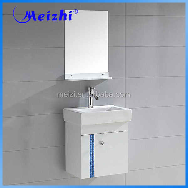 Sanitary ware handing 500mm pvc bathroom vanity