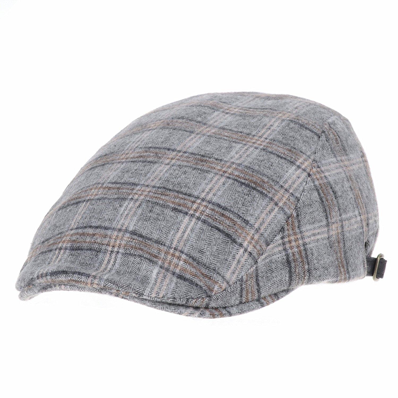 WITHMOONS Flat Cap Tartan Check Pattern Winter Warm IVY Hat LD3418