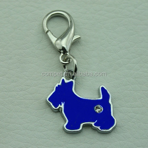 Diy Metal Jewelry Necklace Hanging Accessories Enamel Dog Pendant