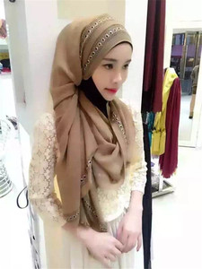 Hot Selling Women Plain Color Islamic Real Chiffon Fashion Hijab Scarf Malaysia