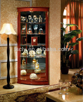Corner Piece Furniture Designs Wood Glass Display Showcase