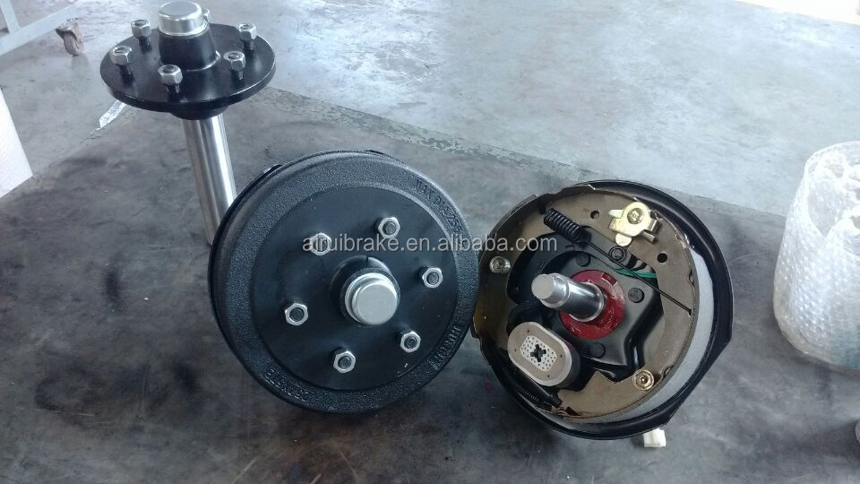 Stub Axle Electric Drum Brake For Camping Trailer 1500kg