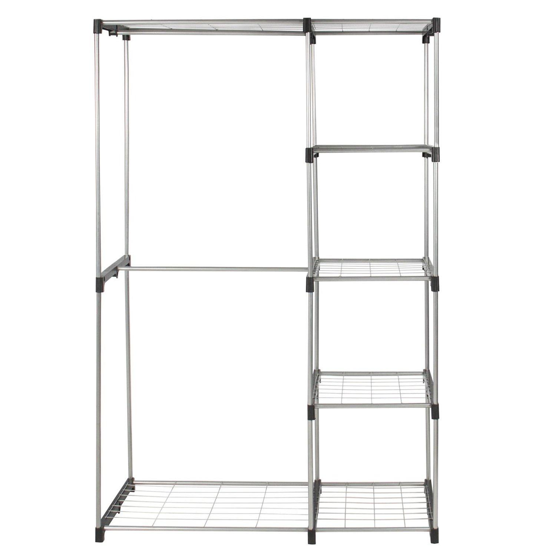 Closet Shelves Closet Organizers Closet Clothes Wardrobe Organizer Storage  Rack With Shelves Steel U0026 Plastic 45