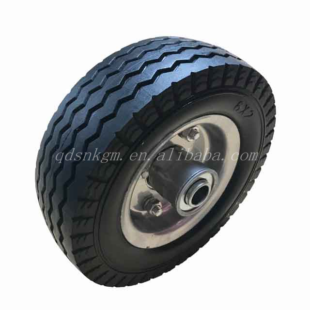PU Industrial Hand Trolley Foam Filled Wheel 6 Inch 6X2 Solid Tires For Sale