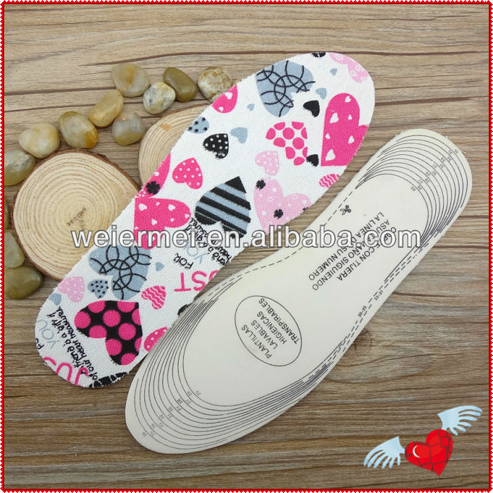 Breathable For Kids Latex Designer Shoe Insoles