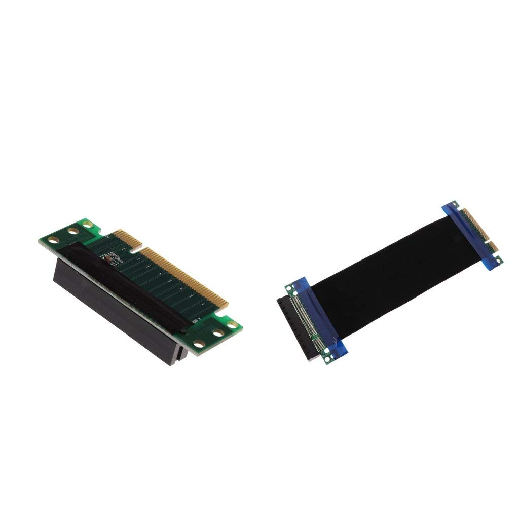 NOYITO PCI-Express 16x Riser Card 90 Degree Right Angle Riser Adapter Card 1U 2U