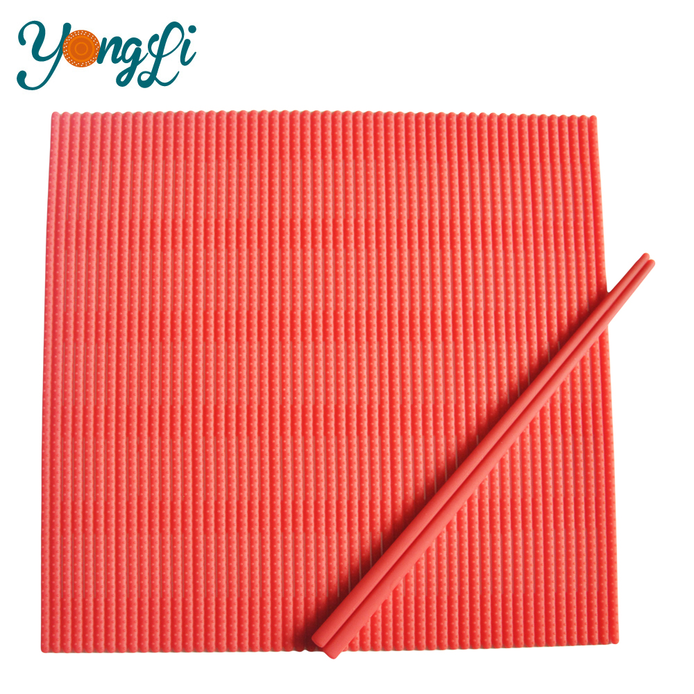 100% Food Grade Silicone Sushi Mat and Chopsticks for Sushi