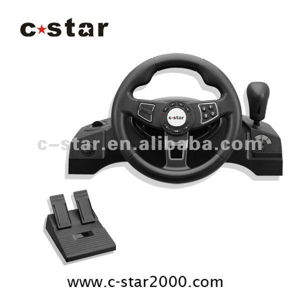 Video game steering wheel for PS2/PS3/PC with pedal