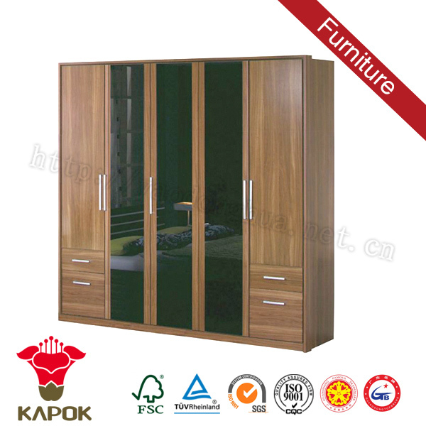 Double color china designs fitted built in wardrobe ideas with good price