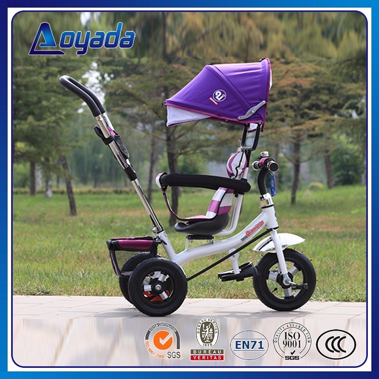 4in1 type kids baby tricycle high quality softtextile baby stroller 2017 model 360 degree rotating seat new children tricycle