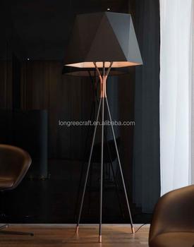 Wholesale Price Modern Geometric Triangle Head White Black Gold Color High Quality Tripod Led Floor Lamp Buy Tripod Floor Lamp Led Floor