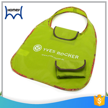 wholesale custom logo printed recycled foldable nylon reusable grocery shopping bag