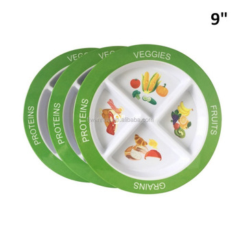 Melamine plastic divided plate for kids