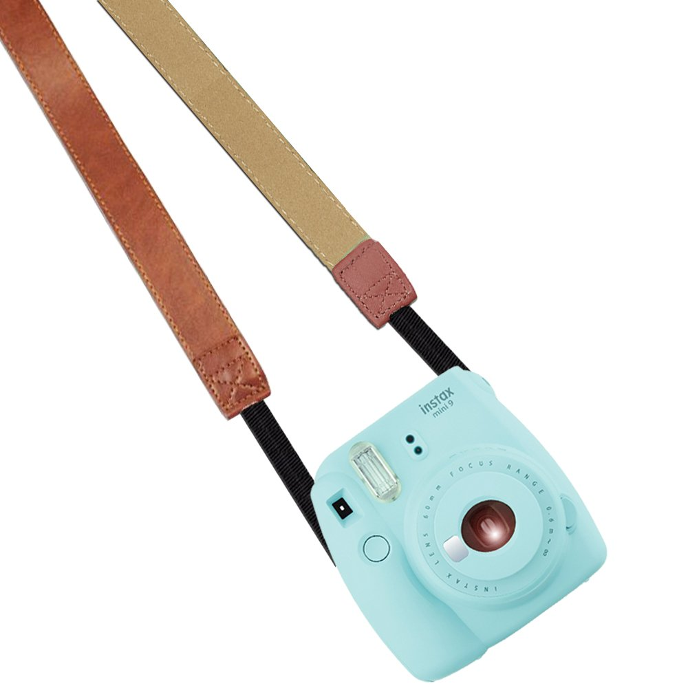 Katia Camera Neck Shoulder Strap Belt for Nikon / Canon / Sony / Olympus / Pentax / Mini 9 / Mini 8 / Mini 7s / Mini 25 / Mini 50s / Mini 90 / DC / Fujifilm Polaroid Instax Camera(Brown)