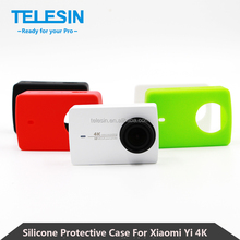 For Xiao Yi 4K Action Sport Camera 2 II Xiao Yi 2 Accessories Telesin Soft Silicon Protective Case Housing