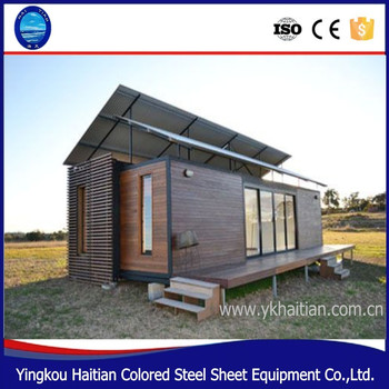 Prefab Wooden Houses Beach 20ft Container House Beach