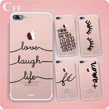 Unique Portuguese Words Love Design Transparent Soft Silicon Phone Case Back Cover For Apple Iphone 6 Case 6S Cover
