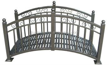 2014 classic style outdoor steel for privacy garden bridge for Metal garden bridge designs