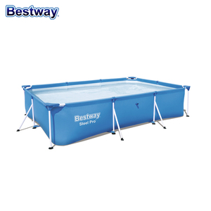 Rectangular Metal Frame Portable PVC Adult Children Above Ground Swimming Pool
