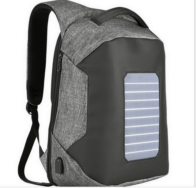 New design anti theft school bag laptop solar power backpack with usb charger