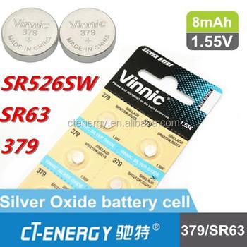 Vinnic Silver Watch Battery Sr526sw 379