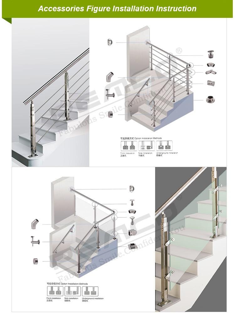 balcony stair railing handrail balustrade ss 304 316. Black Bedroom Furniture Sets. Home Design Ideas