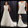 Em0121 Short sleeves cheap wedding dress plus size western style wedding dresses for bridal