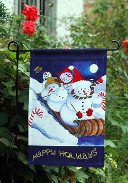 Wholesale Monogram Christmas Stocking Garden Flag