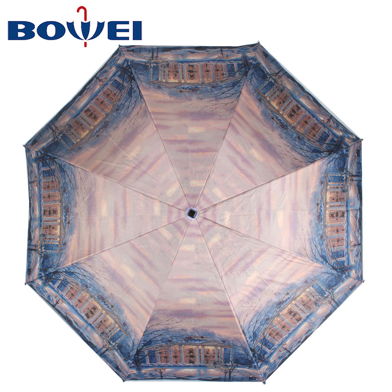 2020 Optimum design hot sell durable promotional printable folding umbrellas