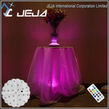 Table LED Bases For Glass Tables, Under Glas Table Lights For Tablecloth
