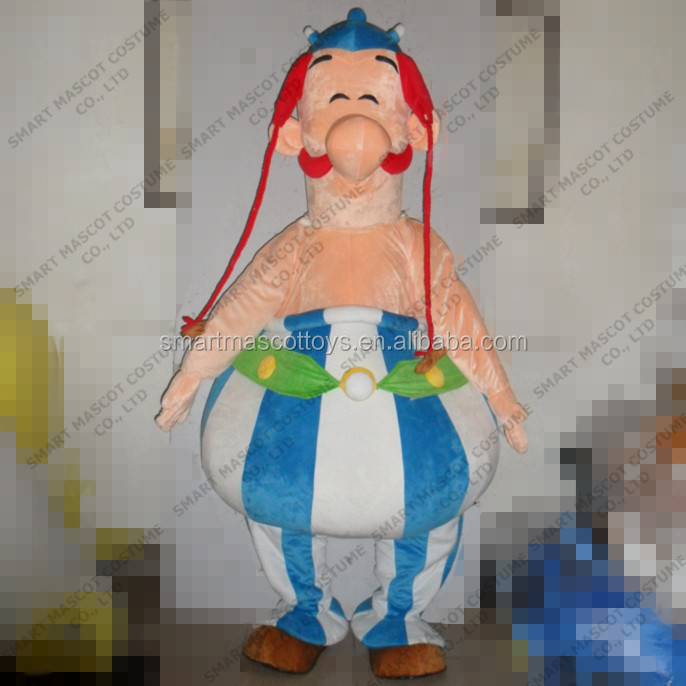 Walking life size chubby obelix costume to fit all adult unisex obelix costume